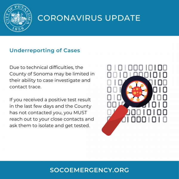 coronavirus update graphic in english