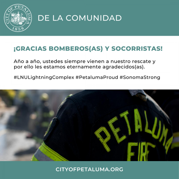 thank you fire fighters and first responders in spanish