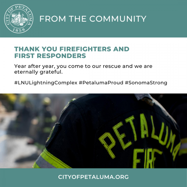 thank you fire fighters and first responders