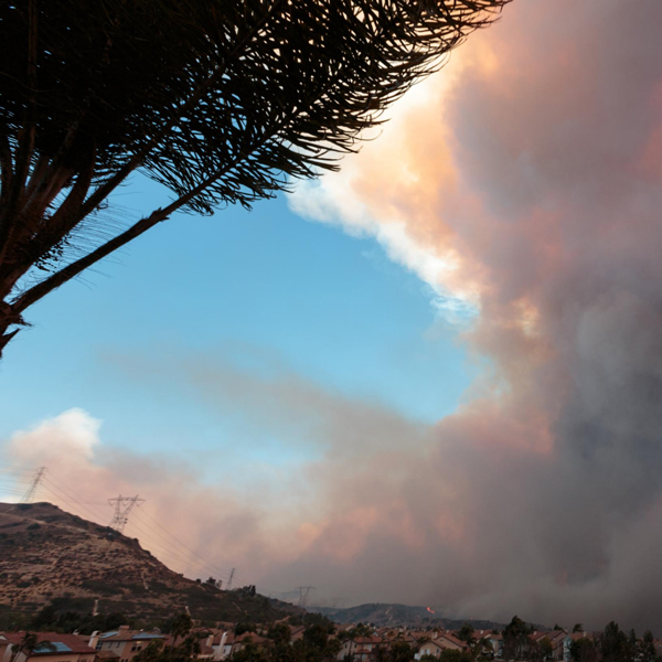 image of wildfire sky