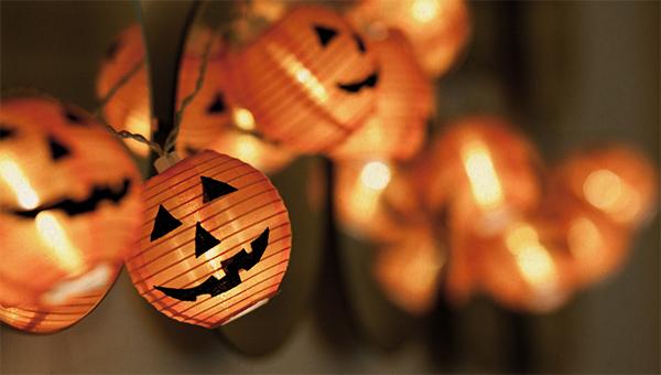 halloween image with pumpkin decorations