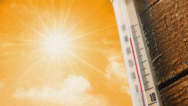 image of thermometer and sunshine