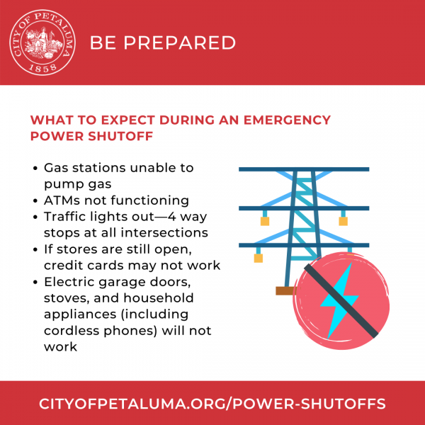 be prepared for power shutoffs