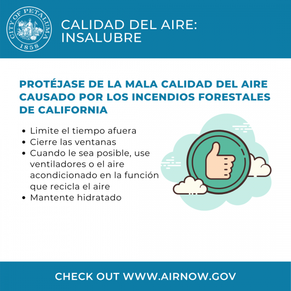 graphic about air quality in spanish