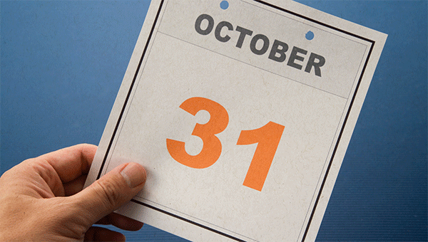 october 31 calendar date
