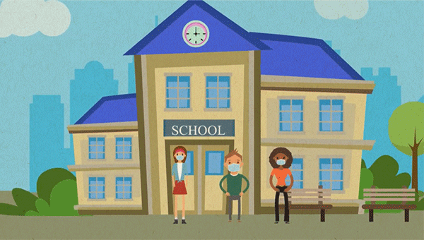 screenshot from school reopening video