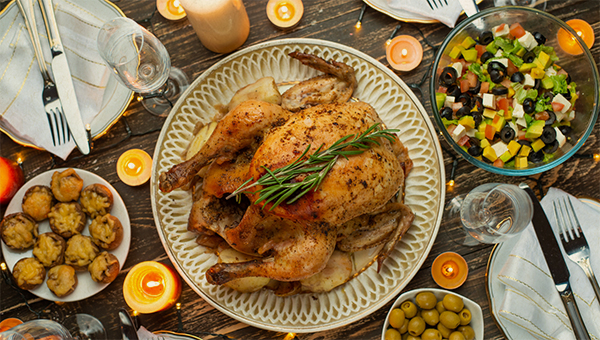 image of holiday dinner