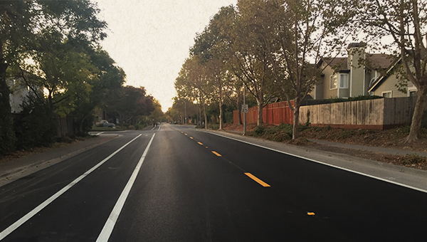photo of repaved maria drive
