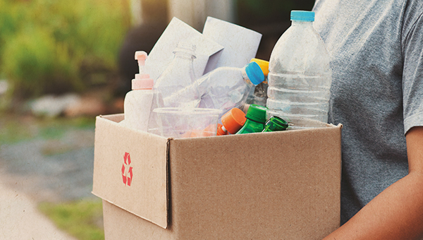 image of items for recycling