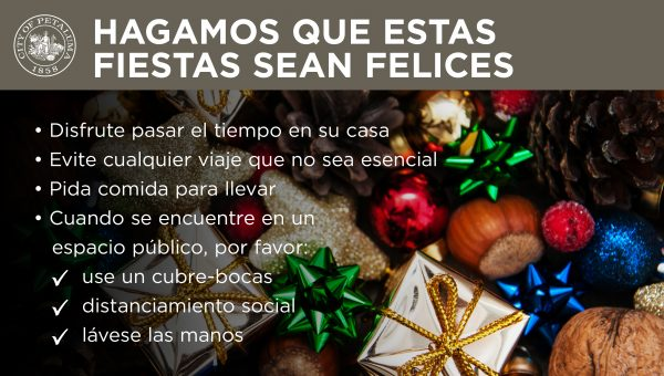 Keep holidays happy graphic in spanish