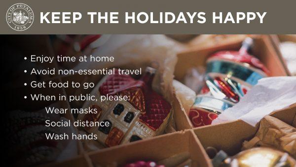 keep happy holidays graphic