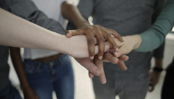 handshake between group of people