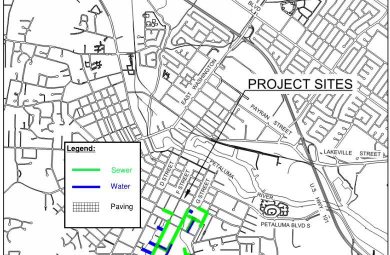 McNear Sewer & Water Map