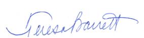 Teresa Barrett Signature