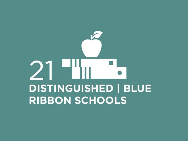 21 DISTINGUISHED BLUE RIBBON SCHOOLS INFOGRAPHIC