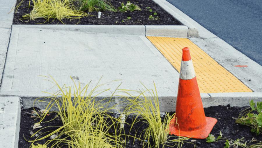 Traffic Cone Sidewalk