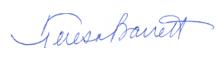 Mayor Barrett signature