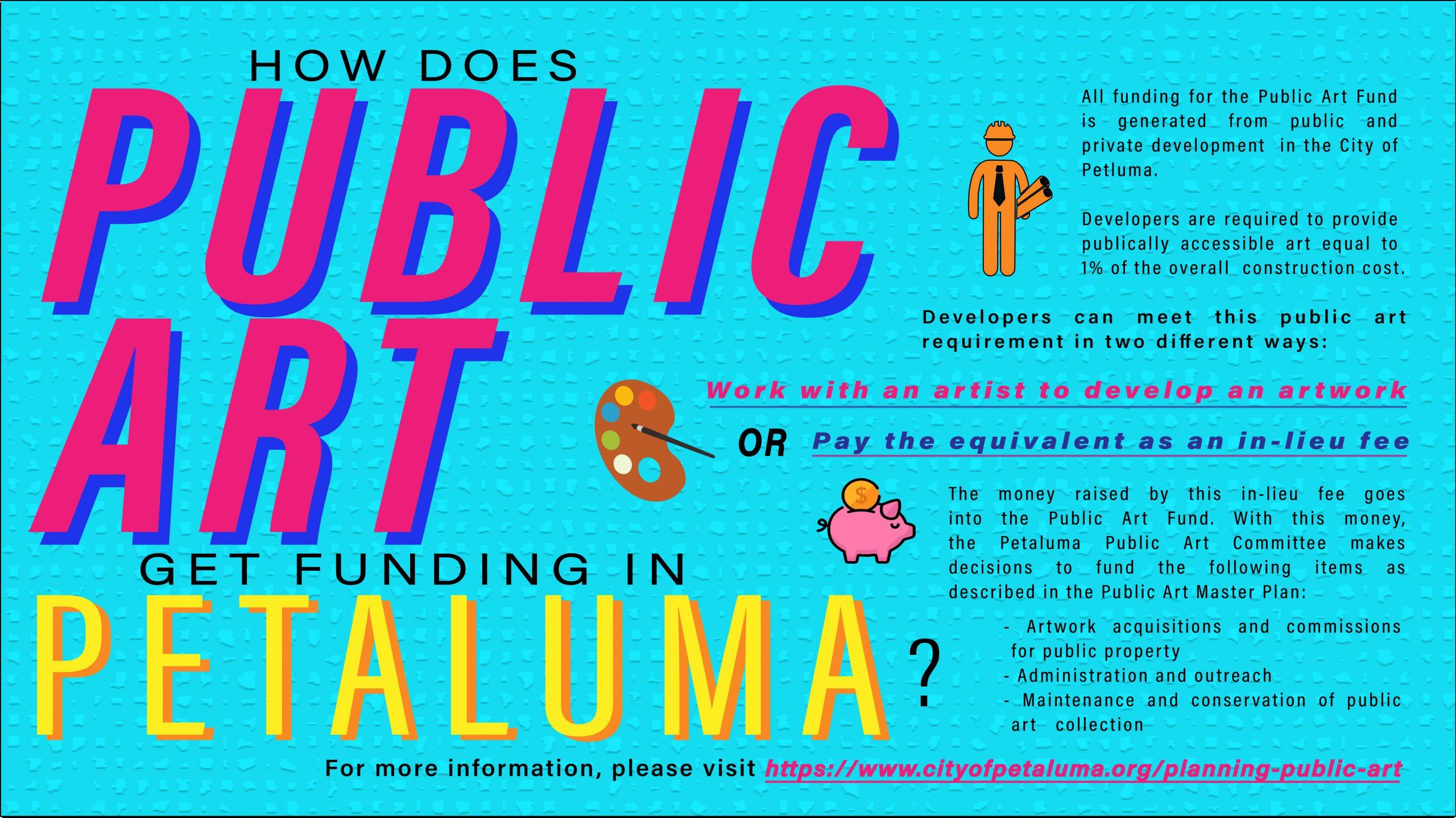 Petaluma Public Art Fund infographic