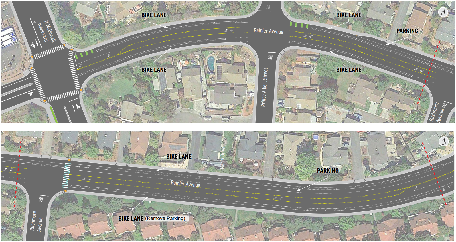 Rainer Bike Lanes Updated 1