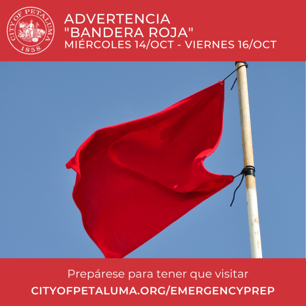 red flag graphic in spanish