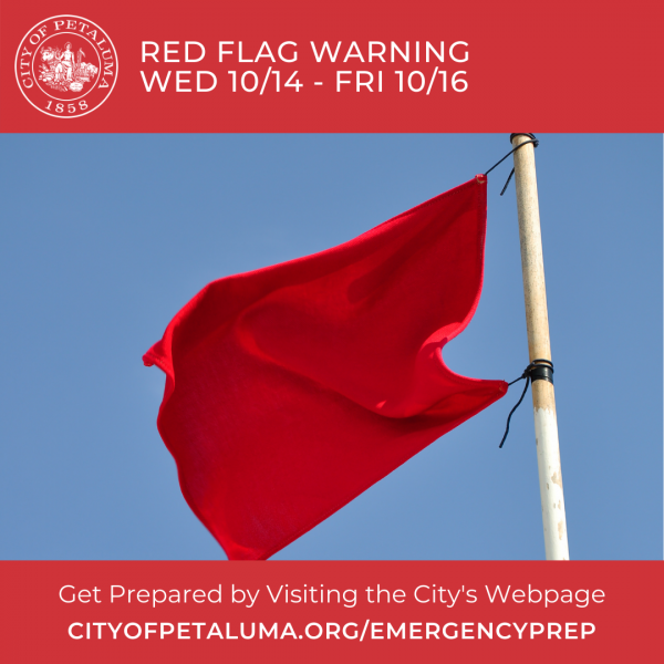 red flag warning graphic in english