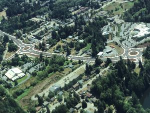 Ariel view of Tremont roundabouts