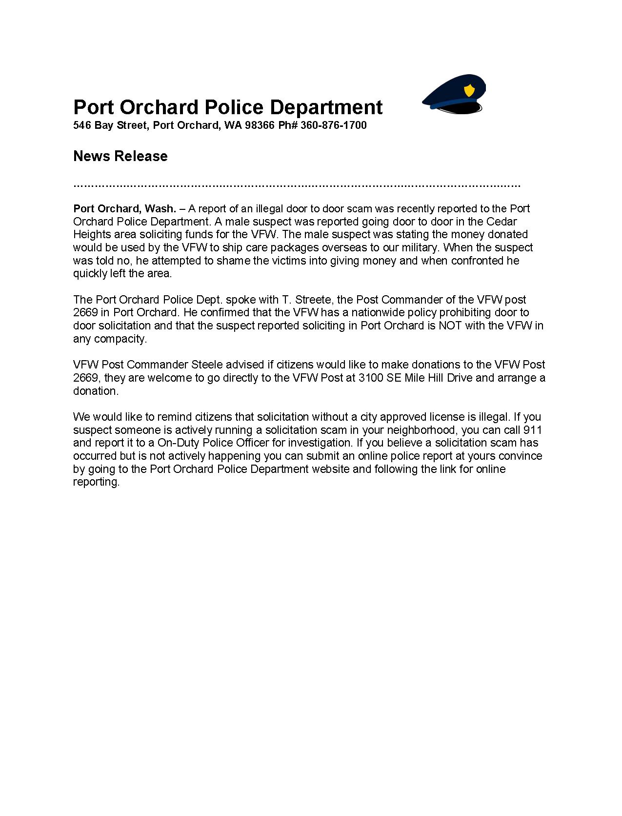 Police News VFW