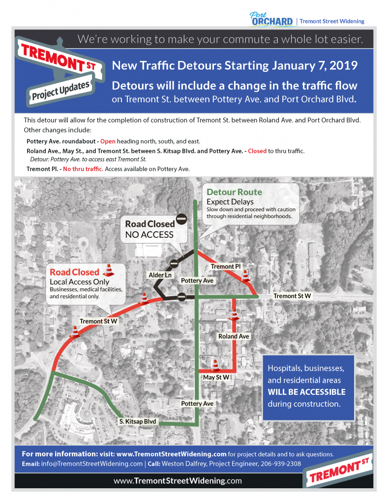 Tremont street detours that beging January 7, 2019