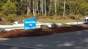 McCormick Village Park Sign