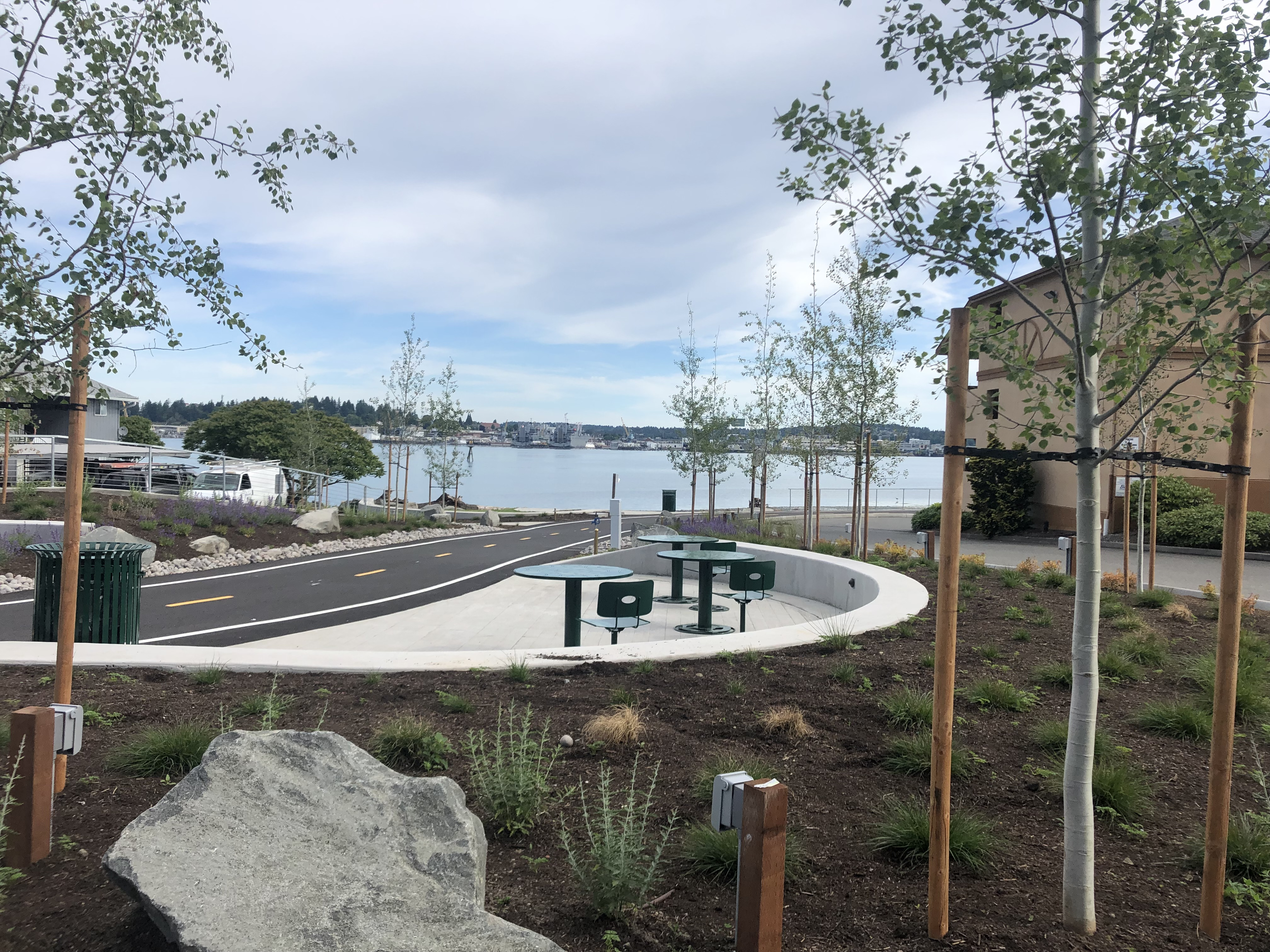 Picture of Rockwell Park and the Bay Street Pedestrian Pathway