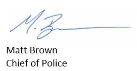 police chief signature