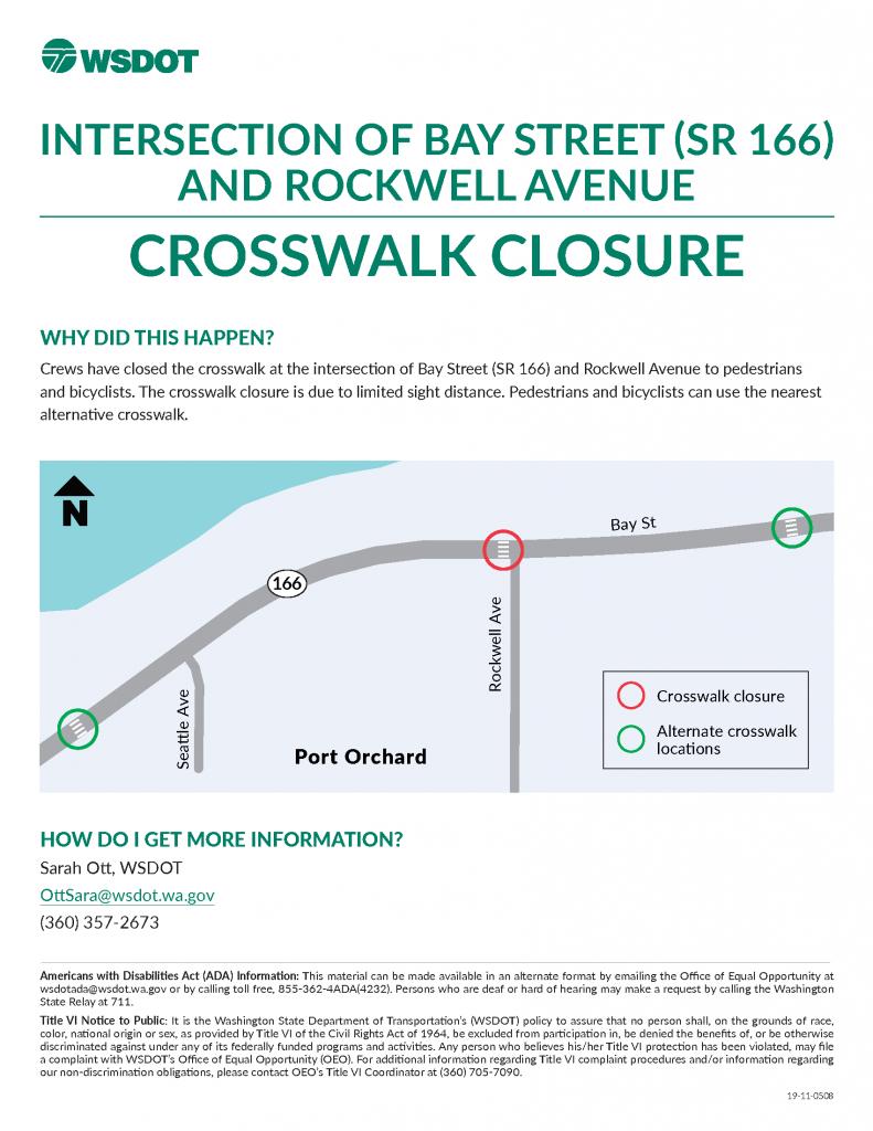 rockwell avenue crosswalk closure