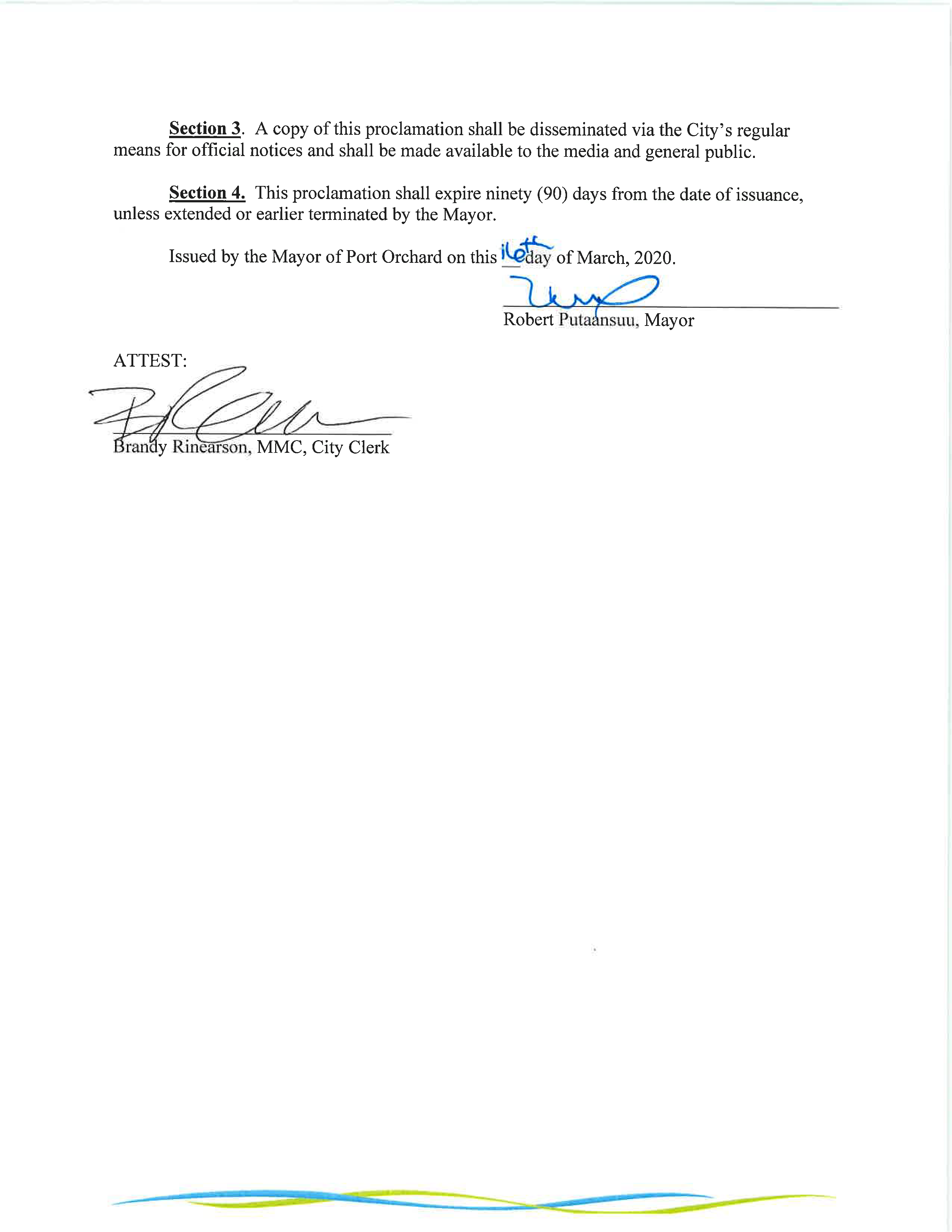 Emergency proclamation page 2