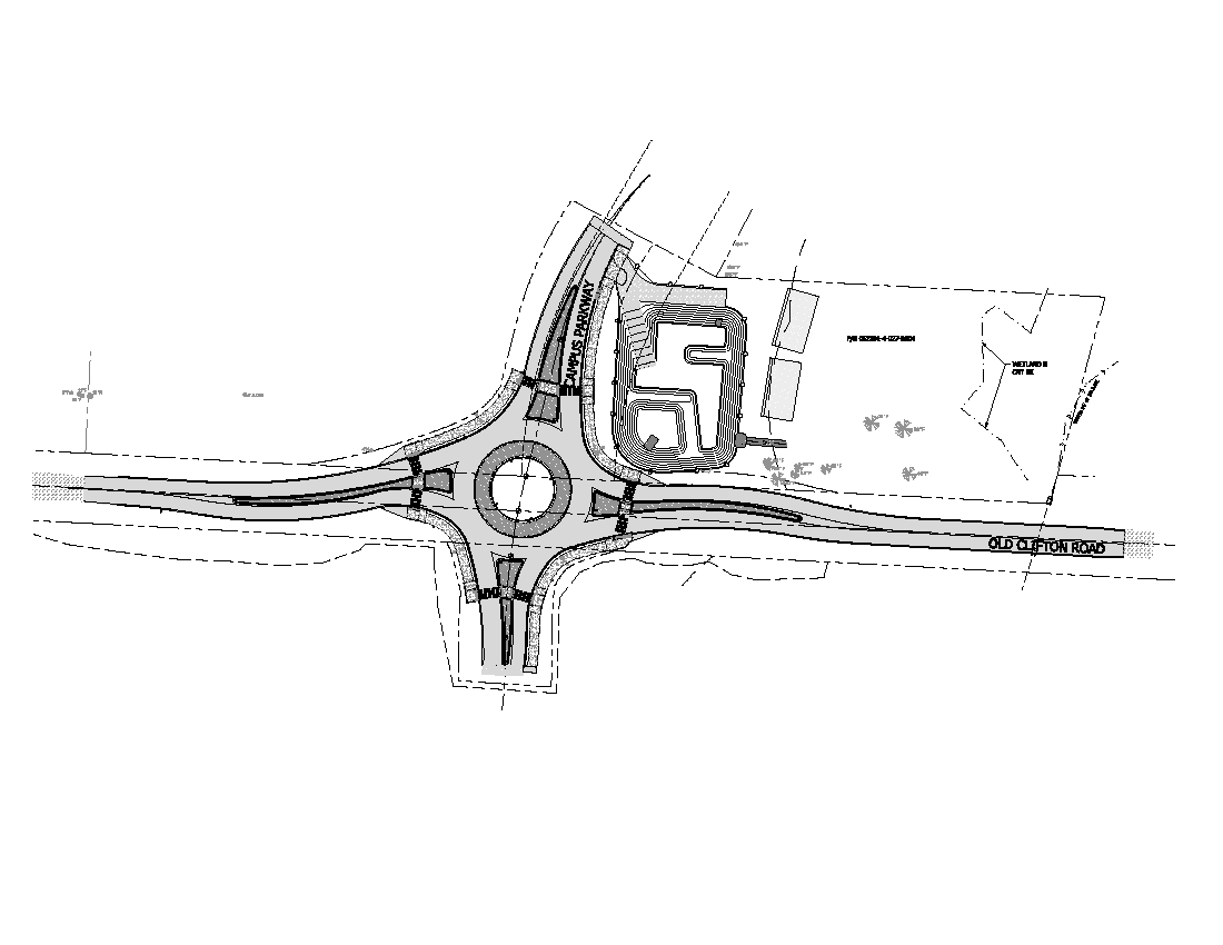Old Clifton Road roundabout image