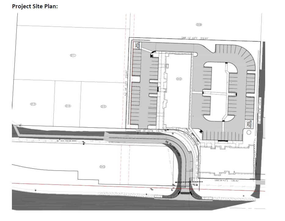 Plisko Lane Apartments site plan