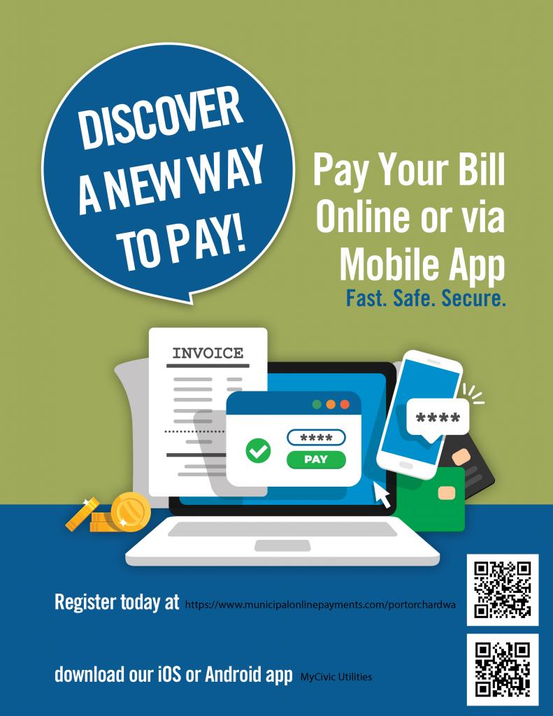 pay utilities online flyer
