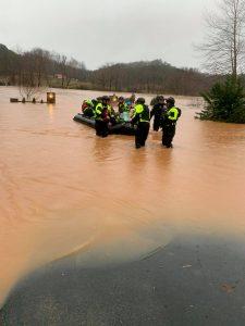 Rutherfordton Flooding Rescue