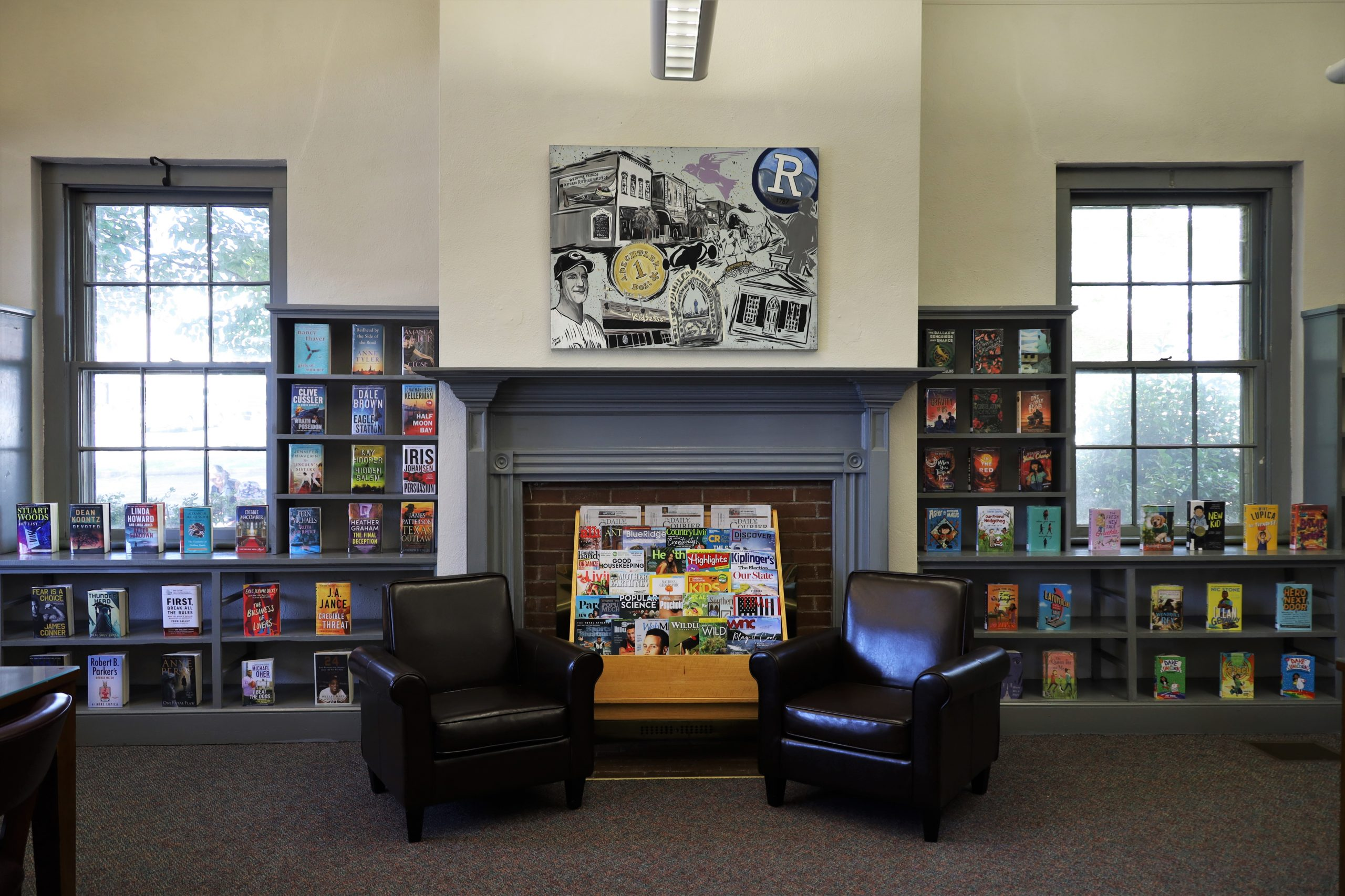 Reading room in Norris Public Library