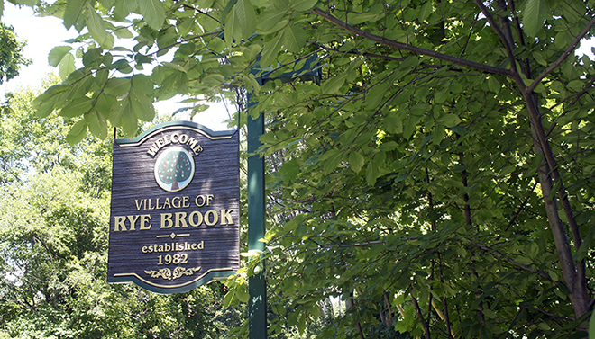 Rye Brook NY welcoming sign