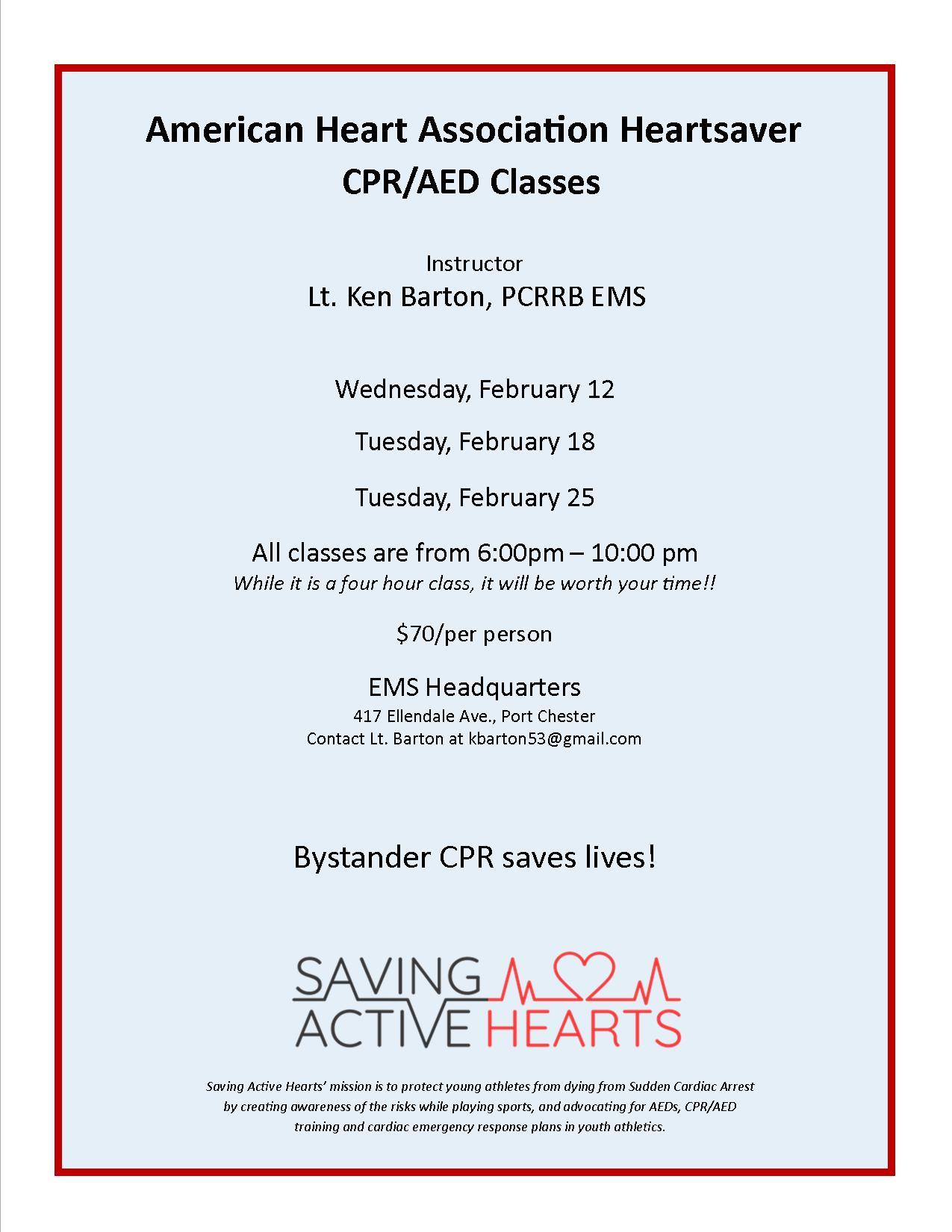 CPR Class Info