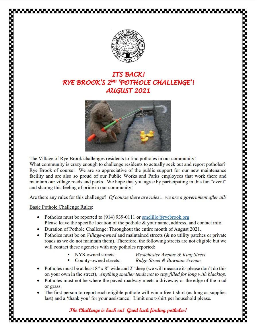 pothole challenge