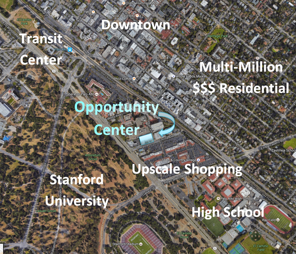 Map of the Opportunity Center