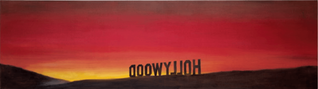 back of hollywood by ed ruscha