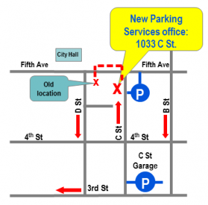 Parking Services Mini Map New Office
