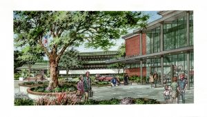 Water Color Rendering of Public Safety Center
