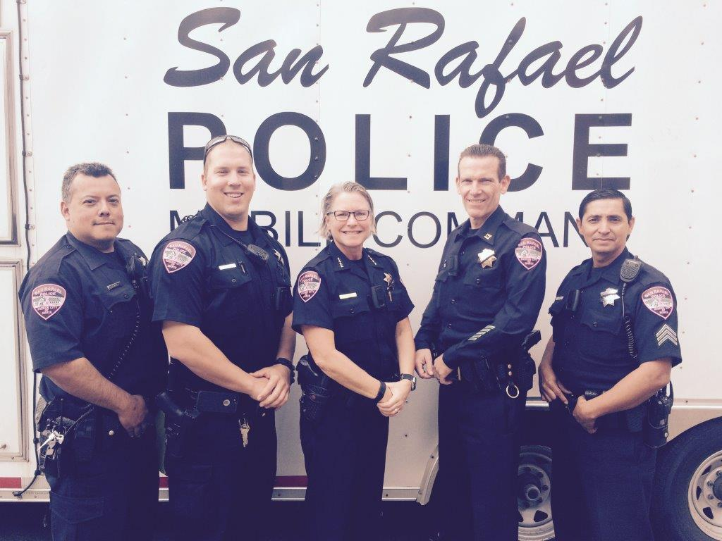 San Rafael Police Department  >> San Rafael Police Pink Patch Project San Rafael