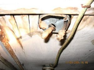exposed junction box