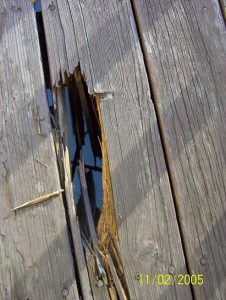 hole in deck