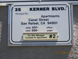 resident caretaker sign