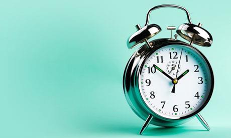 image of wind-up alarm clock